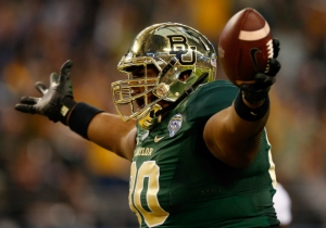 The Giant Baylor Lineman Who Scored A Touchdown In The Cotton Bowl Is Now Playing Tight End