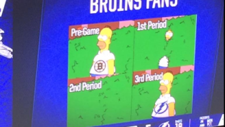 The Tampa Bay Lightning Expertly Trolled Bruins Fans With A Superb Homer Simpson Meme