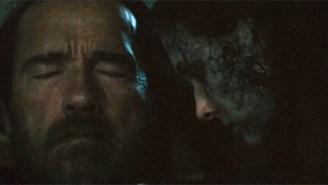 Arnold Schwarzenegger Protects Zombie Abigail Breslin In 'Maggie'
