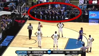 Watch A College Basketball Team Pull Off The Bench Celebration From 'Major League'