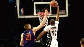 Nets' Markel Brown Initiates Lift-Off For Hammer Dunk Past Alex Len