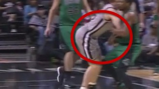 Watch Marcus Smart Roundhouse Punch Matt Bonner In The Groin