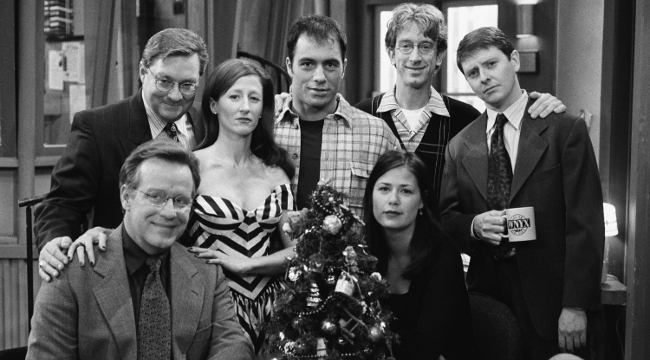 NewsRadio cast photo Christmas