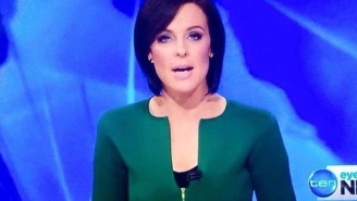 The Neckline Of This Australian News Anchor's Dress Looks Like A Giant Penis