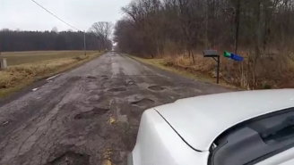 This Driver Hates Potholes More Than Anyone Has Ever Hated Anything