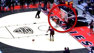 This Dunk Was So Thunderous It Broke The Hoop And Nearly Knocked Out An Opponent