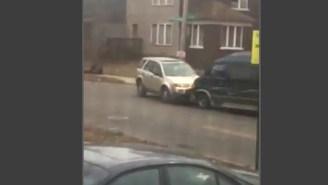 This Van-Hating Driver's Road Rage Is Unbelievable