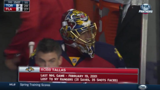 A Florida Panthers Coach Suited Up In Full Gear After Both Goalies Got Hurt