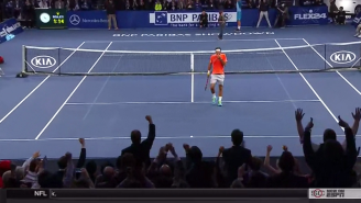 Watch A Young Boy Win A Stunning Volley Against Tennis Great Roger Federer