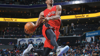 Terrence Ross Gets Loose On The Break For A Beautiful Windmill Slam