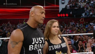 Ronda Rousey Said She 'Would Definitely Win' A Fight Against The Rock