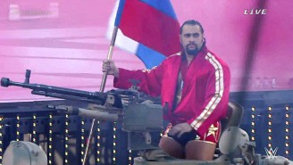 Rusev Made His WrestleMania 31 Entrance On A Tank