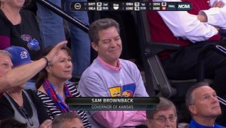 It Didn't Take Long For Kansas Governor Sam Brownback To Jump On The Wichita State Bandwagon