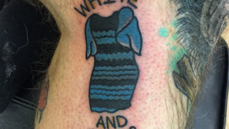 Someone Got An 'Awesome' Tattoo Of 'The Dress' On His Leg