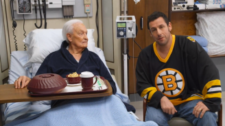 Watch Adam Sandler And Bob Barker Continue Their 'Happy Gilmore' Brawl For 'Night Of Too Many Stars'