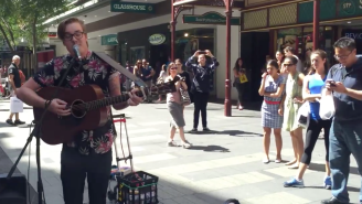 A Busker Covered 'Girls Just Want To Have Fun' To Silence A Homophobic Preacher