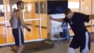 Watch The Thunder's Mitch McGary and Steven Adams Bust A Move At Practice