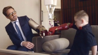 Watch Robert Downey, Jr. Deliver A Bionic Arm To A Special 7-Year-Old Boy