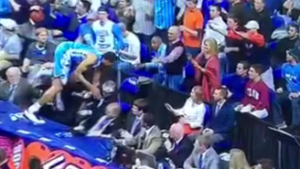 A North Carolina Player Crashed Into Duke's Athletic Director Diving For A Loose Ball