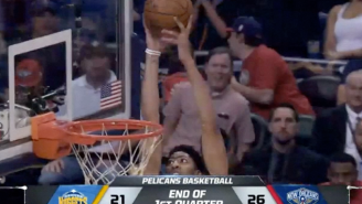 Anthony Davis Activates Go-Go Gadget Arms To Catch This Ridiculous Alley-Oop