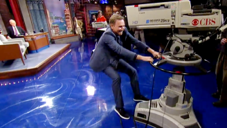 Watch Norm Macdonald Attempt To Steal A 'Late Show' Camera And Nearly Break It In The Process