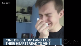 This Guy Tricked CBS Into Thinking He's A Devastated One Direction Fan