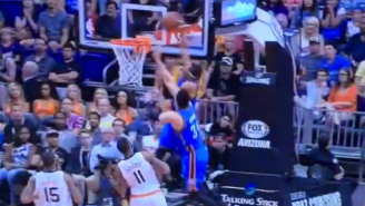 Russell Westbrook Puts His Own Teammate On A Poster