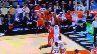Clint Capela Tries To Make The Raptors Extinct With This Dunk