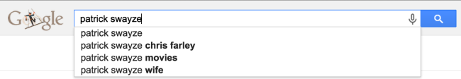 Chris Farley Patrick Swayze Google