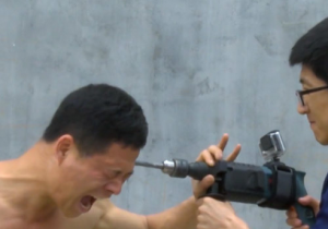 Watch This Indestructible Kung-Fu Master Take An Electric Drill To The Head