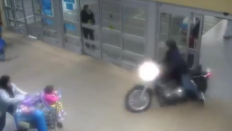 Watch This Motorcyclist Lead Police On A Crazy Chase Through A Canadian Mall