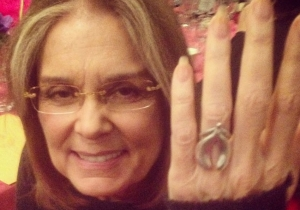 Feminist Icon Gloria Steinem Is Rocking A Saucy Ring That Looks Like Lady Parts
