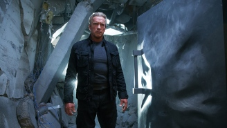 Arnold Schwarzenegger, straight from the 'Terminator: Genisys' set