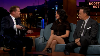 Milas Kunis Announced Her Marriage To Ashton Kutcher On 'Late Late Show'