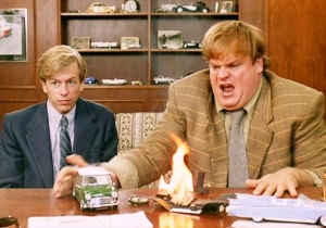 All Of Chris Farley's Explosive Outbursts From 'Tommy Boy'