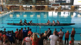 Poland Has Invented An Amazing New Sport That Looks Like Tug Of War In A Rowboat