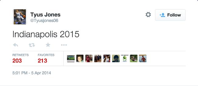 Tyus Jones Tweet