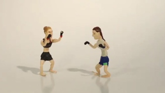 Some Crazy Fan Made A Claymation Version Of Ronda Rousey's Last Fight