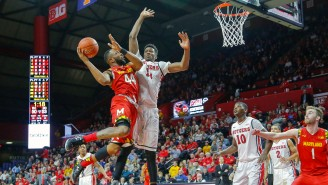 Watch Maryland's Dez Wells Force A Travel By Jumping Over A Rutgers Player, Then Smash Sportscenter's Top Play