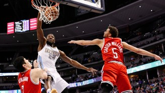 Watch Kenneth Faried Drop The Hammer On Michael Carter-Williams