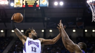No, Derrick Williams, You're Supposed To Dunk The Ball Through The Rim, Not At It