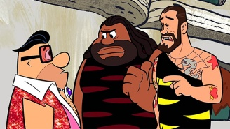 Watch Caveman CM Punk Hassle Fred Flintstone In This Clip From 'Stone Age SmackDown!'
