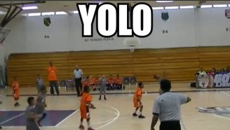 Watch This 8-Year-Old Go 'YOLO' With A Backwards Buzzer Beater
