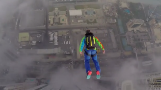 BASE Jumping Off A Tower In Dubai Is As Crazy As It Sounds