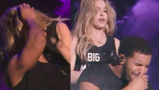 Watch Drake's Disgusted Reaction After Madonna Surprised Him With A Kiss