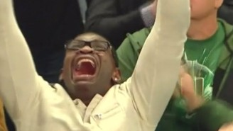 Nobody Was More Excited At The NIT Championship Than Michael Irvin