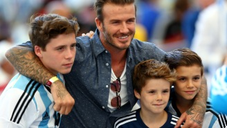 Here's David Beckham Trolling His Son By Stealing His Thunder On Instagram