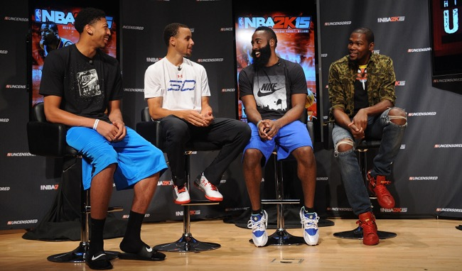 Anthony Davis, Stephen Curry, James Harden, Kevin Durant