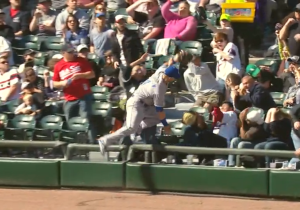 Watch The Royals' Alex Gordon Take Out A Fan On This Bonkers Diving Catch