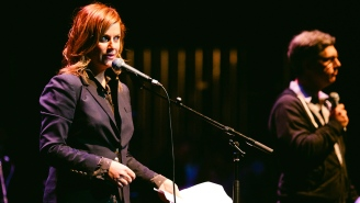 Amy Poehler, Will Forte turn poetry into slam dunk during Lynch Foundation show